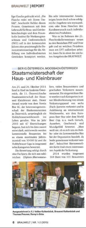Artikel Brauwelt 2015