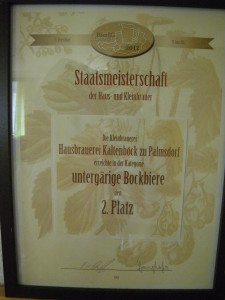 Urkunde 2. Platz