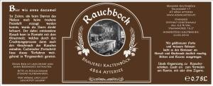 Rauchbock Etikett