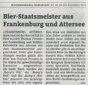 Staatsmeister Bezirksrundschau 6.11.14